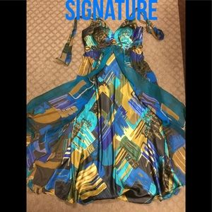 Signature by Robbie Bee All Silk Maxi